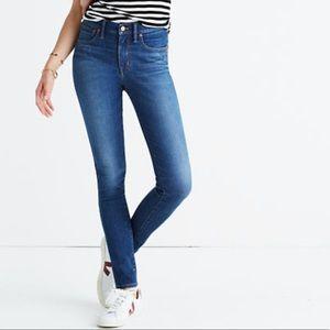 """Madewell 9"""" hi-rise skinny jeans"""